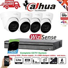 DAHUA Home Security System NightVision 8CH 8MP 4K Surveilance Kit Outdoor Audio