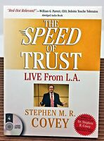 The Speed of Trust - Live From LA ~ ABRIDGED ~ Stephen Cover NEW SEALED