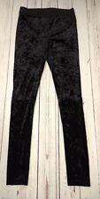 Topshop Black Velveteen Leggings Size 12
