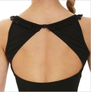 Black Bloch/Mirella scoop neck lacework leotard - all sizes  M3016LM