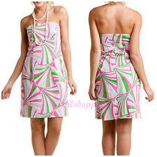 """MELLY M """"CHLOE"""" SUN DRESS NWT 10 $228 Retro Pink Bandeau Strapless Artsy Mod"""