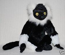 *New* Black And White Lemur Monkey Soft Stuffed Animal Toy 30Cm