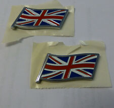 MG ROVER & MINI UNION JACK  FLAG BADGES, GENUINE,  PAIR, NEW (DAG000080MMMx2)