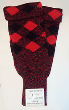 Tartan Stocking Hose - Size 1 - Black and Red - Hose Sock - Footless - New