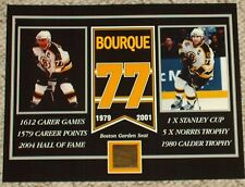 RAY BOURQUE BOSTON BRUINS BOSTON GARDEN SEAT 8 X 10 COA