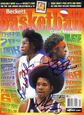 Ben Wallace Darius Miles Signed NBA Beckett Magazine