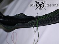 Cuero Perforado Volante Funda Para Armstrong Whitley 18 Verde Doble St