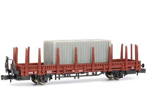 DeAgostini 053 - Güterwagen Rungenwagen mit Container DB Bausatz - Spur N - NEU
