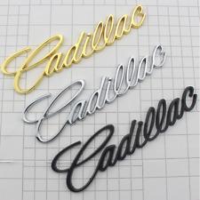 Gold Silver Matte Black Cadillac Logo Car Rear Trunk Lid Emblem Badge