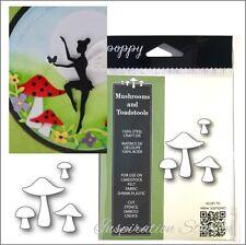 Mushrooms and Toadstools metal die Poppystamps cutting Dies 1810