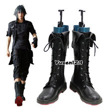 Final Fantasy XV Noctis Lucis Caelum Black Cosplay Boots Nocturne Fancy Shoes
