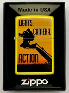 Collectable ZIPPO Camera Man - Movies Lighter New!