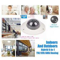 1080P HD CCTV Security Camera 2.0MP AHD TVI CVI CVBS 180 degree Fisheye lens IR