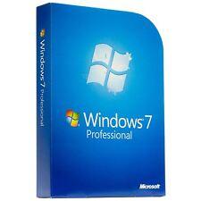 Microsoft Windows 7 Pro Professional 32 & 64 bit with  DVD FULL Version