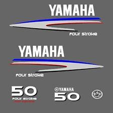 kit stickers YAMAHA 50 cv serie 2 - autocollant capot moteur hors-bord decals