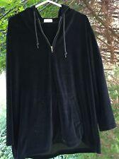 Jones New York Women's Black Fashion Hooded Sweatshirt/ Pant Set S