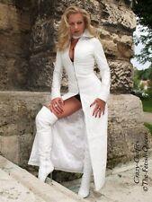 Ledermantel Leder Mantel Weiß Bodenlang Figurbetont Maßanfertigung