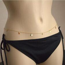 Chain Link Necklace Chain Jewelry. X4V0 Sexy Women Gold Bead Bikini Waist Belly