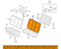 Rear Honda Genuine 82121-SVA-A21ZB Seat Back Trim Cover Right