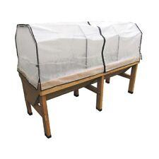 Veg Trug Medium Greenhouse Frame and PE Cover - Natural
