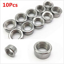10PC Oxygen Sensor Curve Notched Nut Bung M18 X 1.5 Threads - Stainless