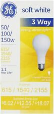 GE SoftWhite Light Bulb 3-Way 50/100/150 Watt 3 ea (Pack of 8)