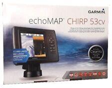 Garmin EchoMAP 53cv Chartplotter CHIRP Sonar + US LakeVu + Transducer