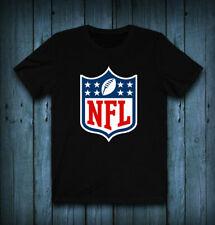 NFL National Football League Logo T-Shirt exclusive 100 Cotton Black Cotton Tee