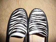 Womens Comfort Loafers BLACK & WHITE Fur & Leather Zebra 8.5 M Brazil