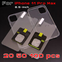 For iPhone 11 Pro Max Protector Tempered Glass Screen Saver+Clear Soft Case Lot