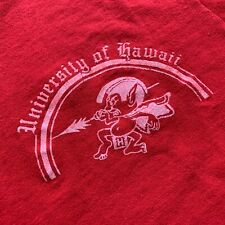 1970s VINTAGE UNIVERSITY OF HAWAII T-SHIRT SZ S 70s 100% COTTON SINGLE STITCH