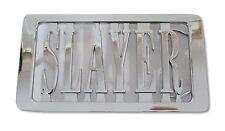 Slayer Cutout Name Logo Chrome Metal Belt Buckle New Metal Band Music
