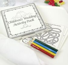 x8 - WEDDING TABLE FAVOURS GIFT - COLOURING FUN ACTIVITY PACK / GAME PUZZLE BOOK