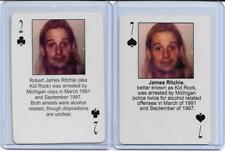BOTH STARZ BEHIND BARZ ~ KID ROCK PLAYING CARDS LOT ~ MUG SHOT ~ COWBOY BABY