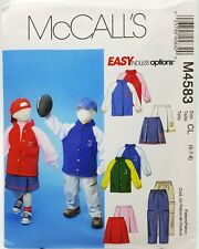 Girls Boys Sport Jacket Pull-on Pants Skirt Sewing Pattern M4583 Size 6 7 8 New