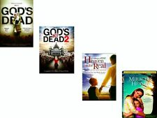 4 DVD PACK-God's Not Dead 1 & 2 -Heaven is for Real , Miracles From Heaven-NEW