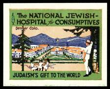 Usa Poster Stamp - 1920s Tb - National Jewish Hospital for Consumptives, Colo.