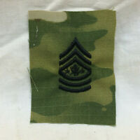 Military Patch Badge Small of Army Rank Sargent Major Ripstop Camo 70's 80's