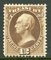 USA 1873 Official 12¢ Treasury Department Scott #O78 Mint F763 ⭐⭐⭐⭐⭐⭐