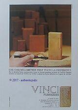 PUBLICITE FLAMINAIRE BRIQUET PRESTIGE VINCI OR MASSIF DE 1967 FRENCH AD PUB