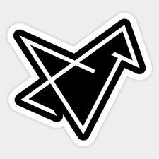 Geometric Origami Bird Shaped Vinyl Bumper Bottle Phone Laptop Decal Sticker