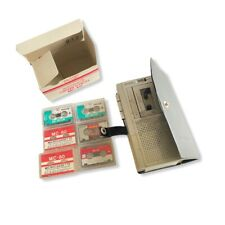 General Electric 2 Speed 3-5340A MICRO II Cassette Recorder 6 Cassettes & Case