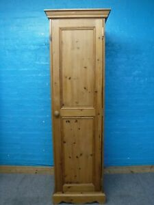 SOLID WOOD LARGE SINGLE 1DOOR WARDROBE H193 W60 D60cm - visit our warehouse