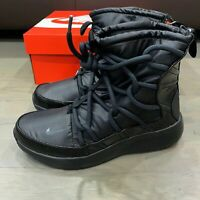 Nike Tanjun High Rise Black Lace Up Boots Shoes Women's Size 5.5 New AO0355-004