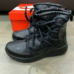 Nike Tanjun High Rise Black Lace Up Boots Shoes Women's Size 6 New AO0355-004