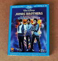 DISNEY JONAS BROTHERS 3D CONCERT EXPERIENCE DELUXE MOVIE BLU-RAY + DVD NEWW