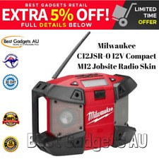Milwaukee C12JSR-0 12V Compact M12 Jobsite Radio Skin Weather Proof Speakers