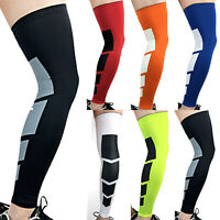 Calf Leg Support Socks Knee Compression Sleeve Stocking High Sport Run Protector