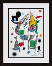 Joan MIRO ORIGINAL 1975 COLOR Lithograph Maravillas Framed SIGNED AUTHENTIC COA