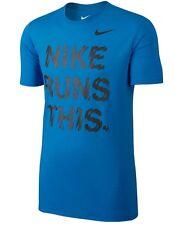 Nike Run Alto es real para hombres Camiseta (M) 778345 406